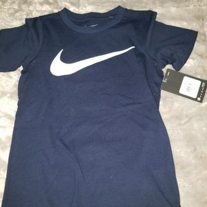 Nike blue white t shirt SS top size 4 NWT